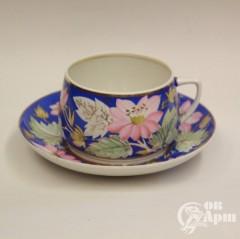 """Большая чайная пара """"Цветы"""""""